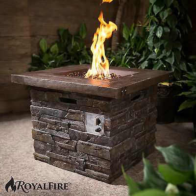 Royal Fire™ Square Gas Outdoor Patio Heater Firepit