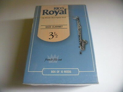 RICO ROYAL REB1035- 10 Anches-reeds Bass clarinet Force 3,5 - NEW