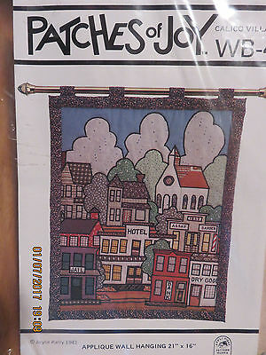 PATCHES of JOY CALICO VILLAGE APPLIQUE WALL HANGING PATTERN