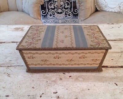 Antique French Fabric Covered Box