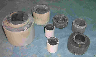 Assorted parts of Lead containers, for storage, Geiger standards