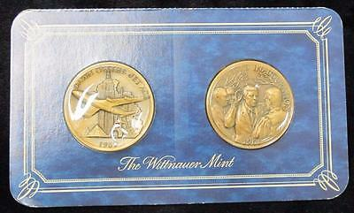 The Wittnauer Mint * Two Bronze Medals * Dawn of Jet Age & Kennedy Inauguration