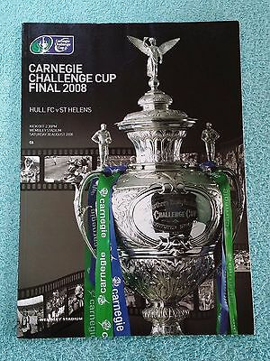 2008 - CHALLENGE CUP FINAL PROGRAMME - HULL v ST HELENS