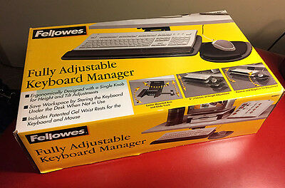 Fellowes Fully Adjustable Keyboard Manager w/Mouse Tray 93841