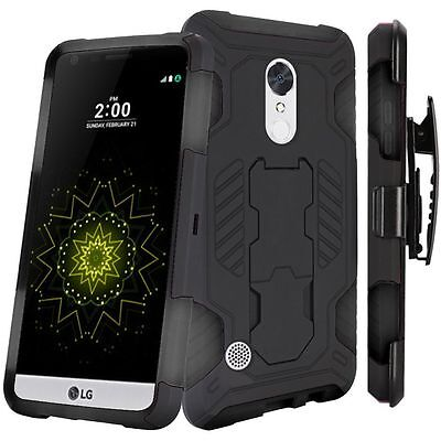 37ece22a53 LG K20 V Holster Belt Clip Combo Cell Phone Case With Kick Stand Cover  Verizon
