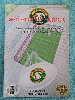 1992 - GREAT BRITAIN v AUSTRALIA PROGRAMME - 2ND TEST AT OLD TRAFFORD
