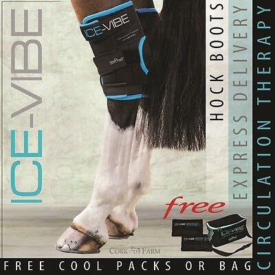 Horseware ICE VIBE HOCK BOOTS Cool Vibrating Circulation Therapy Wraps NEW STYLE