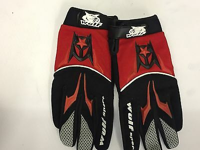 Wulfsport black and red motocross glove size large motorbike mx leisure