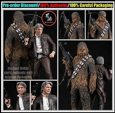 MSH Pre Order ARTFX+ Star Wars The Force Awakens Han Solo Chewbacca 2 Pack 1/10