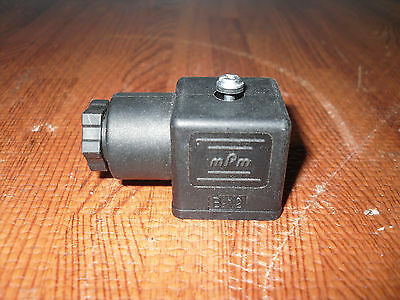 mPm B-12 Solenoid Valve Connector - NEW WITH FREE SHIPPING