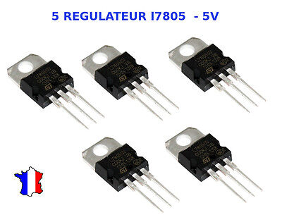 5 Regulateur  L7805Cv / Lm7805 / L7805 - 5V / To220