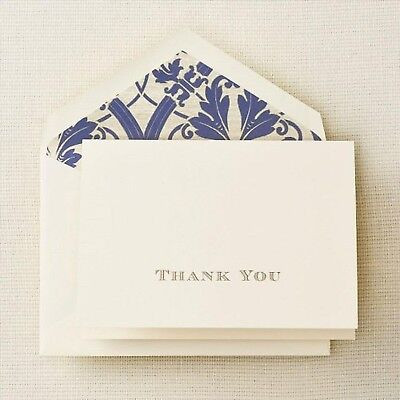 Crane & Co. Gold Hand Engraved Regency Thank You Note - Pack of 10 (CT1265)
