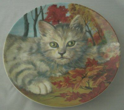 Forest Cat Collectible Porcelain Plate by Baum Brothers