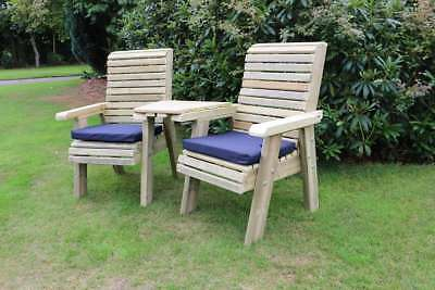 Wooden Love Seats Connecting Chair Set Jack And Jill Seat Garden Furniture