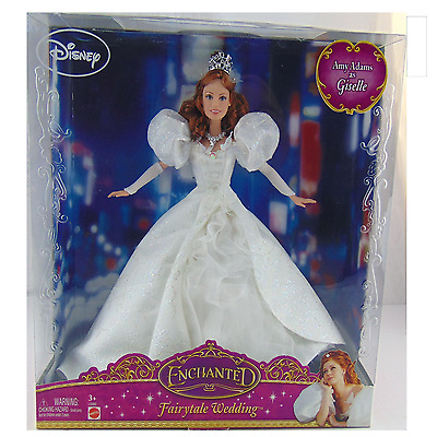 Mattel Disney Movie Enchanted Fairytale Wedding Amy Adams As Giselle Doll New