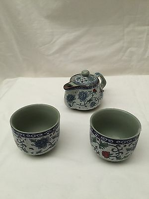 Vintage Japanese Tea Set for 2