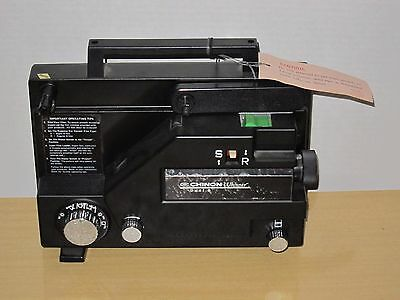 Vtg Chinon 727 Whisper Dual Super 8mm Movie Film Video Projector Variable Speed