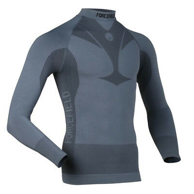 Forcefield Body Armour Men's Base Layer Long Sleeve Shirt - FF-6001 (Grey - XXL)