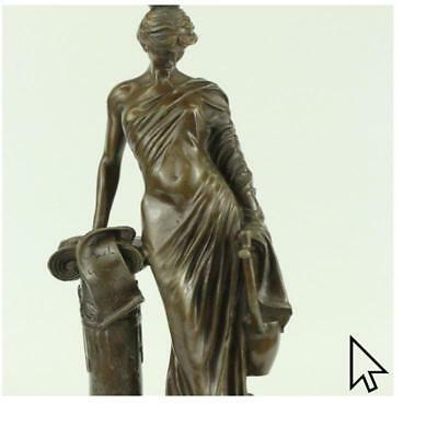 Roman Bust Girl Bronze BWd Sculpture Figure Decor Conversation Piece Den Libra