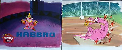 Hasbro Game toy Commercial Animation Cel LOT 5 pcs. 1982 production art Dragon