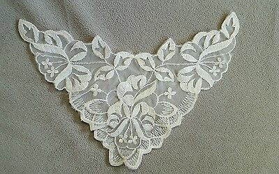 Vintage embroidered lace clothing embellishment accessory