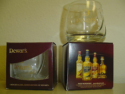 2 (two) Dewar's Rocks Glasses - New in box