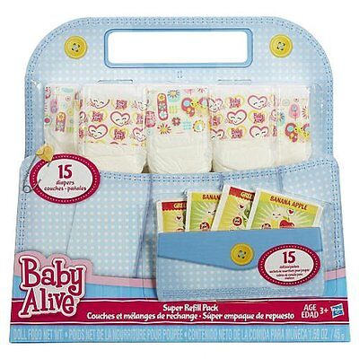 Baby Alive Super Refill Pack Food Diapers Accessories Fun Hasbro Kids Play Gift