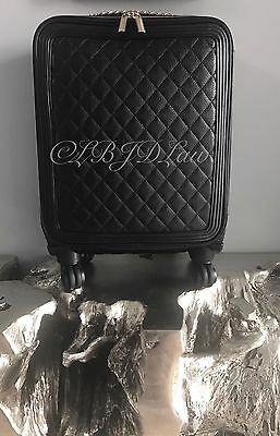 NWT CHANEL 2017 CoCo Case TROLLEY ROLLING SPINNER SUITCASE Carry On Tote Bag 21""