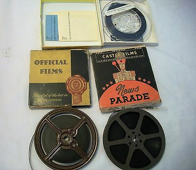Castle Films Official Films Lot of 3 8MM Paris Liberated Wings for Victory