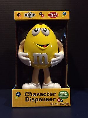 M&M's Yellow Standing Character Candy Dispenser New In Box