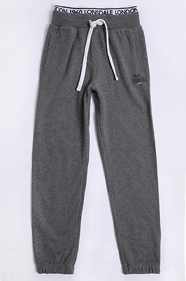 New BOYS - YOUTH Lonsdale BELGROVE TRACKPANTS – COAL MARLE