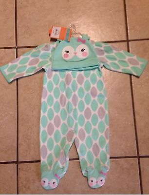 Carters Infant Girl First Halloween Owl Outfit Hat Clothes 3M Nwt