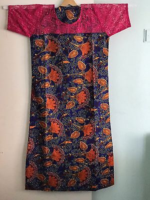 Ankara Mixed With Lace, Fully Stoned African dress Kaftan