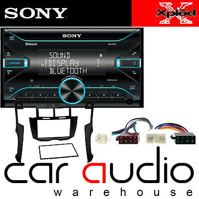 Toyota Yaris 2007 MK2 Sony Double Din Bluetooth CD Car Stereo & Silver Facia Kit