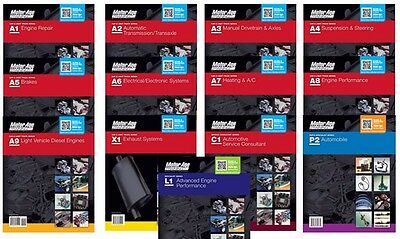 ASE Study Guide Set Book Master Pack A1-A9, L1, C1, P2, X1   Motor Age Training