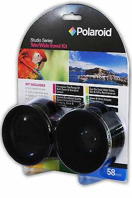 Studio Series 52/55/58mm .43x HD Polaroid Wide Angle Lens + 2.2X Telephoto Lens