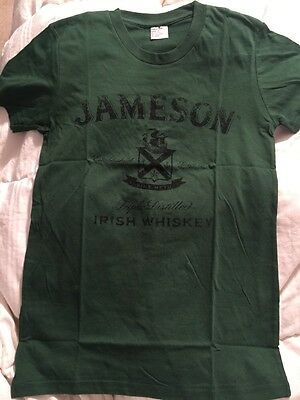 Jameson Irish Whiskey Ladies Green T-shirt Medium New