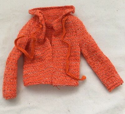 Vintage Barbie Doll 8681 BEST BUY Fashion ORANGE Knit Top With Ties