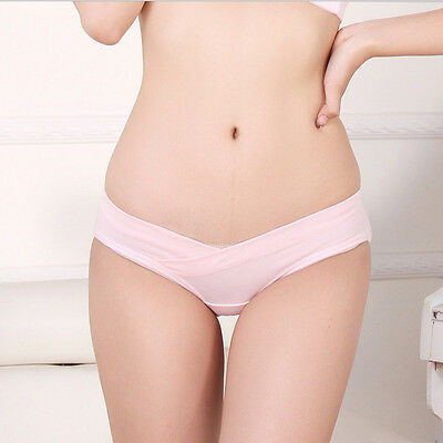 Women Maternity Pregnant Panties Low Waist Underpants Briefs Knickers Seamless