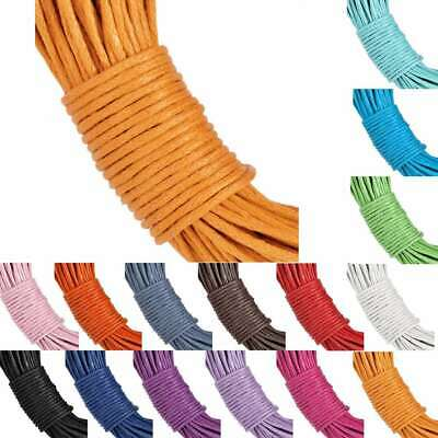 20M Waxed Cotton Cord Thread String Necklace Bracelet Jewellery Making 1x1mm