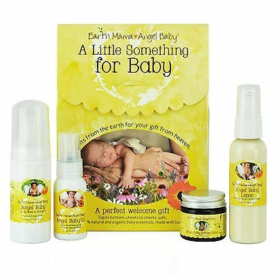 NEW Earth Mama Angel Baby A Little Something for Baby 4 piece Gift Set Skincare