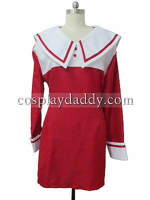 Chobits Red and White Chii Dress Cosplay Costume