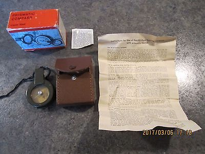 Vintage PASTO Fluid touring compass with Prismatic device WEST GERMANY NIB with