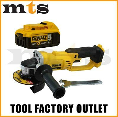 DEWALT DCG412 18V / 20V Li-Ion Slide Type 125mm ANGLE GRINDER With DCB184 5.0Ah