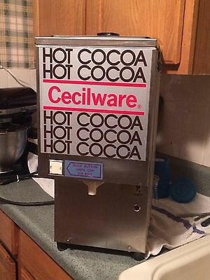 Cecilware Whipper Hot Chocolate Dispenser, Push Button Used