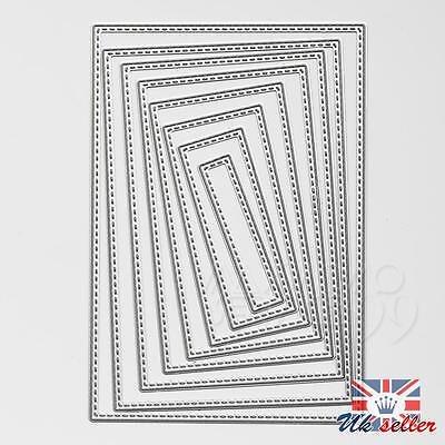 8x Rectangle Metal Embossing Cutting Die Stencil for DIY Scrapbooking Album Card