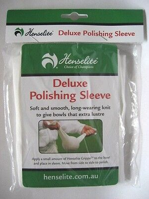 All New: Henselite Deluxe Polishing Lawn Bowls Sleeve. FREE SHIPPING!