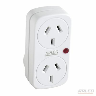 NEW ARLEC Surge Protected Double Adaptor - DA11