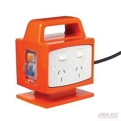 NEW ARLEC Portable Power Block-Safety Switch 4 Outlet - PB94