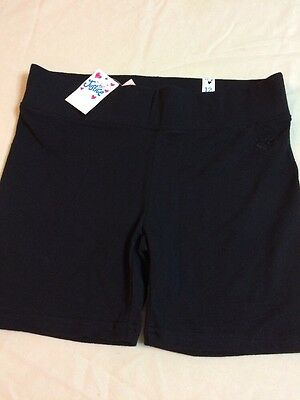 NWT Justice Girls Size 12 Cotton Black Athletic Compression Shorts